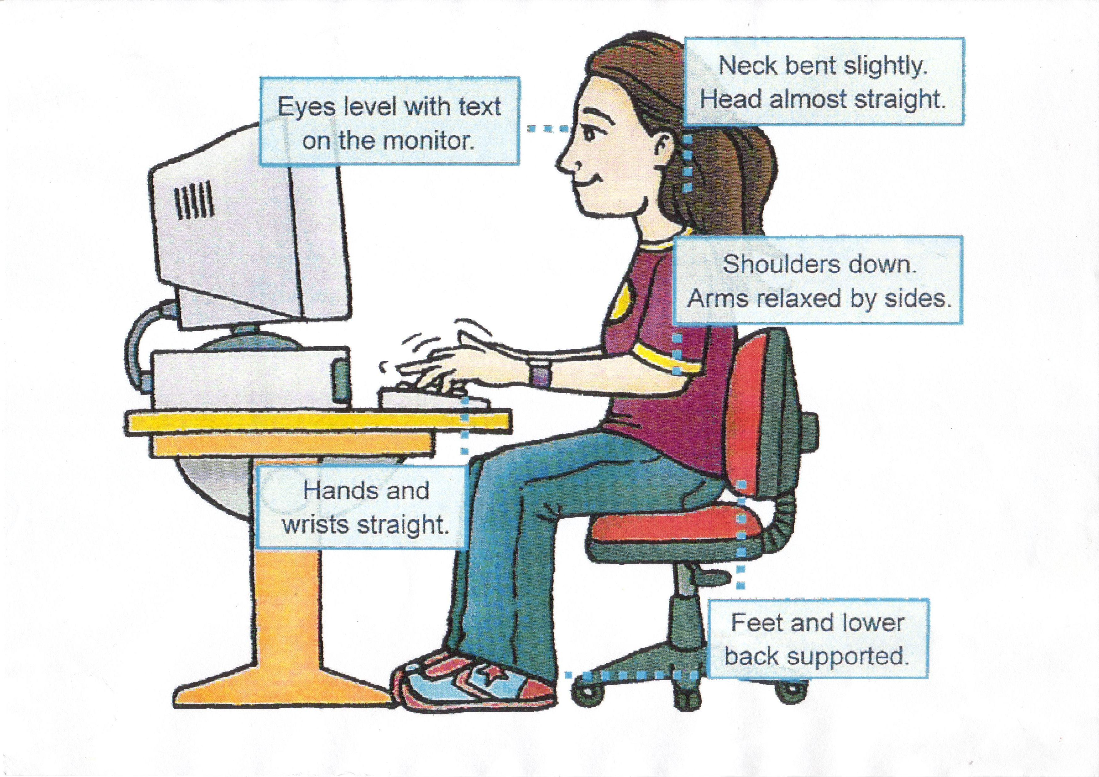 a look at ergonomics and the importance of living with computers The importance of ergonomics  ergonomics is helping to fit a job to the person   every 20 minutes, look 20 feet away from your computer screen for 20.